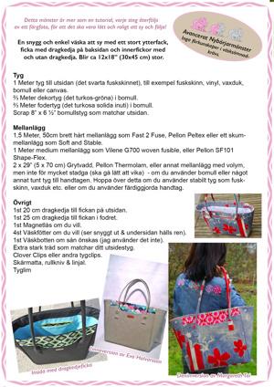 Stockholm Bag - Pdf mönster