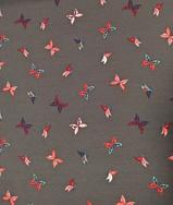 Trikå - Fjärilar på grå botten