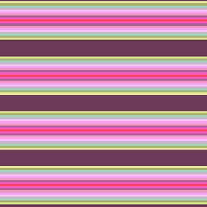 Tula Pink Chipper - Tick Tock Stripe Raspberry